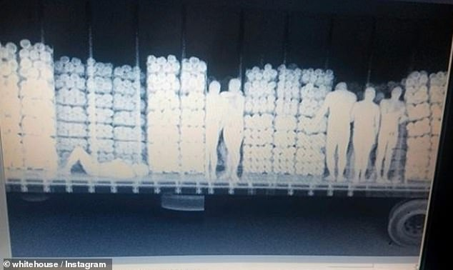 X-ray of a truck at in Mexico reveals 51 migrants