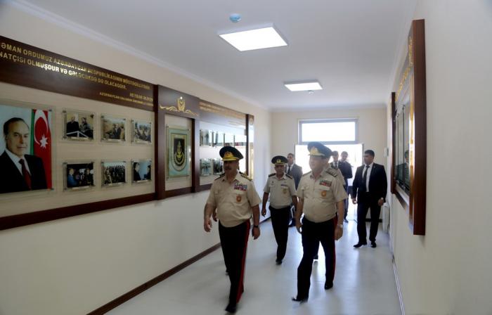 Zakir Hasanov nimmt an der Eröffnung der neuen Infrastruktureinrichtung der Seestreitkräfte teil -  VIDEO + FOTOS