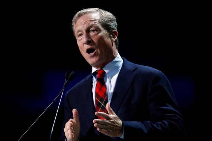 U.S. billionaire Steyer, fierce Trump foe, enters Democratic White House race