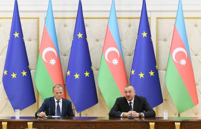 Ilham Aliyev:  Die Beziehungen zwischen der EU und Aserbaidschan basieren auf gutem Geist und gegenseitiger Unterstützung
