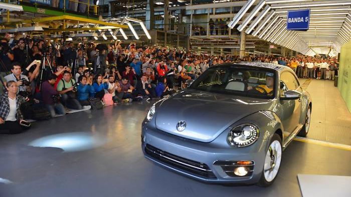 Letzter VW Beetle rollt vom Band