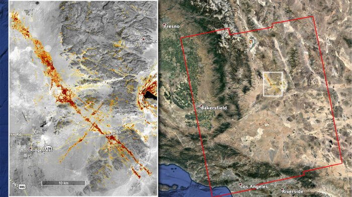 NASA team maps California quake damage