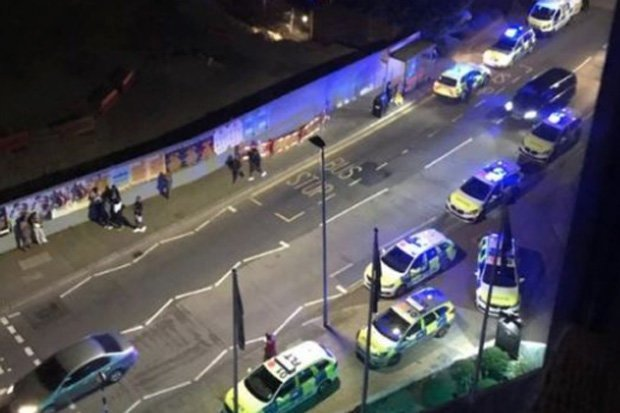 3 people arrested, 7 injured after car rams into crowd in London