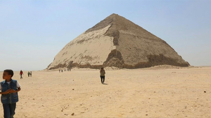 Egypt unveils 2 ancient pyramids, collection of artifacts