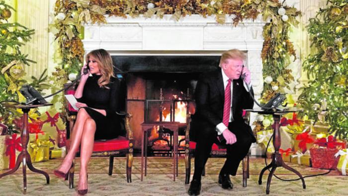 La Casa Blanca de Melania:   camas separadas y mucho dorado