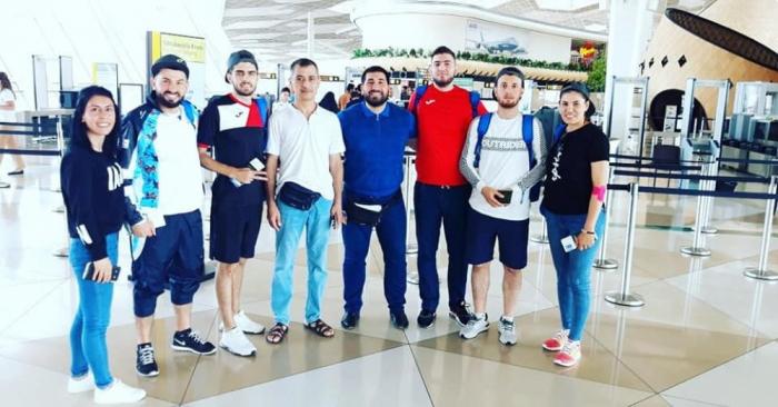 Equipo azerbaiyano de taekwondo compite por las medallas en el 5º Campeonato Asiático