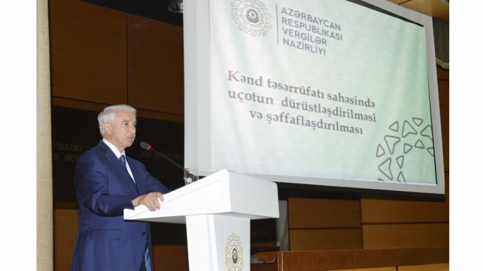 Vergilər Nazirliyində seminar–müşavirə keçirilib