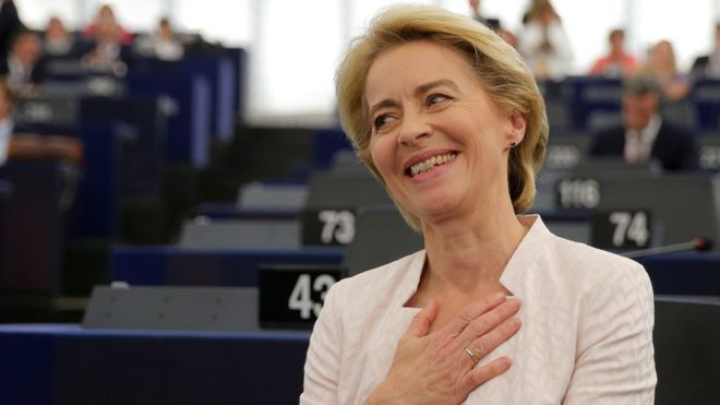 MEPs elect first female EU Commission president