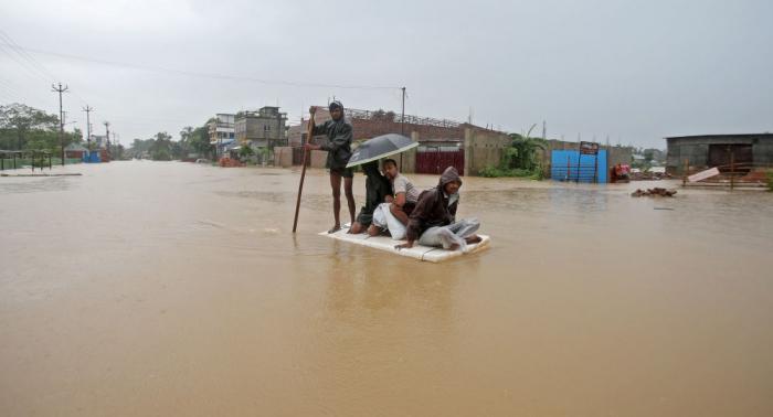 Unas 5,2 millones de personas en la zona de inundaciones en el noreste de la India