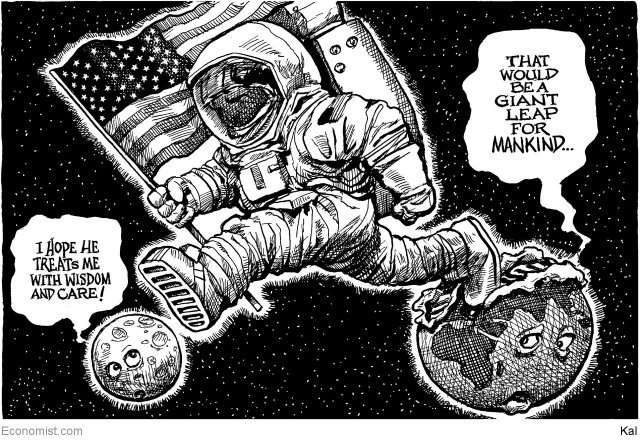 Giant leap for mankind-  CARTOON