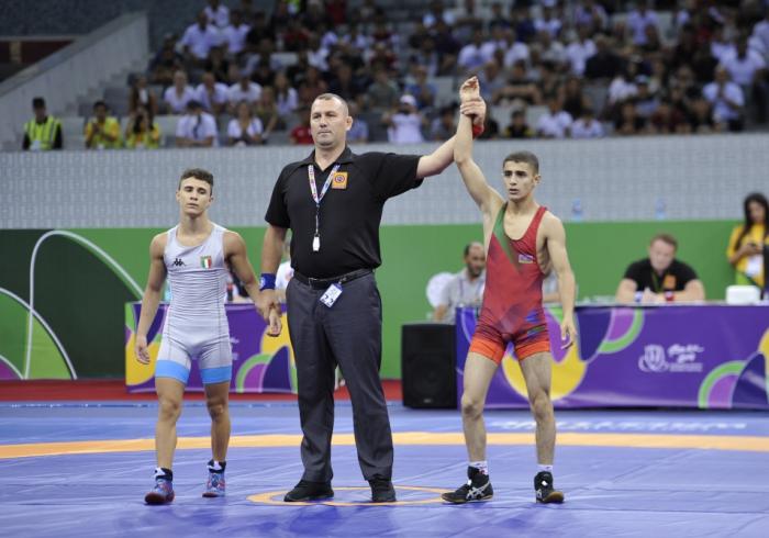 EYOF: Daha bir güləşçimiz qızıl medal qazandı - Yenilənib