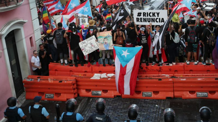 Hundreds of thousands protest in Puerto Rico, calling for governor to resign