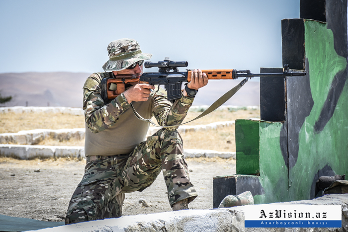 Azerbaijani Army snipers hold training ahead of 2019 Int'l Army Games -  PHOTO