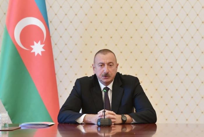 """""""Azərbaycan dayanıqlı inkişaf yolu ilə gedir"""" - İlham Əliyev (VİDEO)"""