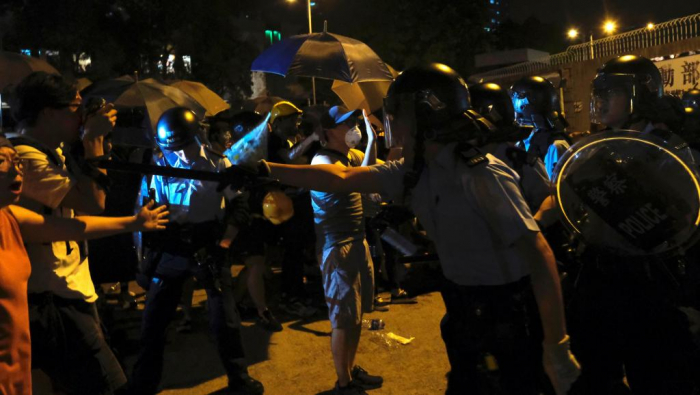 Protesters in fresh clashes with police in Hong Kong-  NO COMMENT