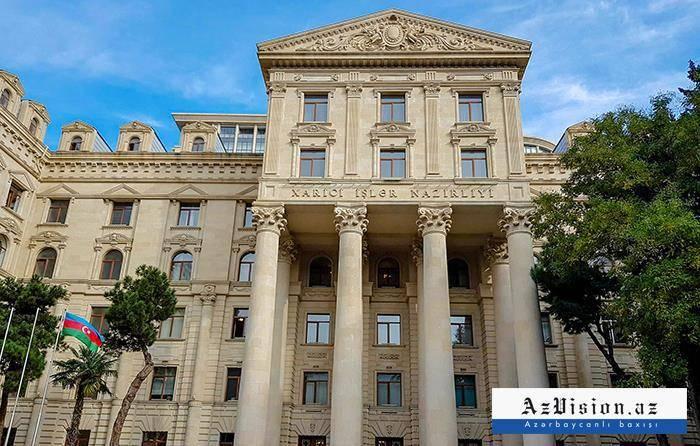 «Cet incident est totalement contraire à l'appel des coprésidents du Groupe de Minsk»,   MAEd'Azerbaïdjan