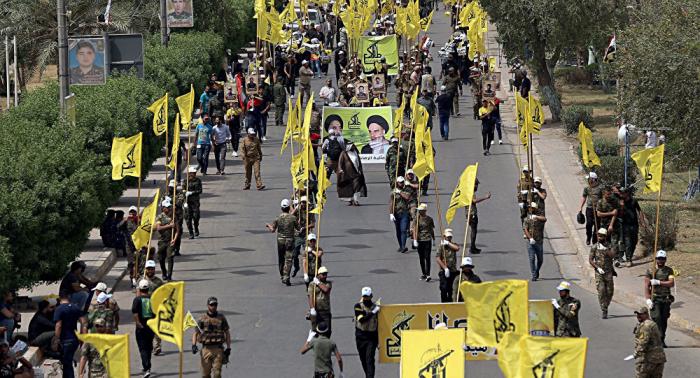 تعرض معسكر للحشد الشعبي العراقي لقصف طائرة مسيرة مجهولة
