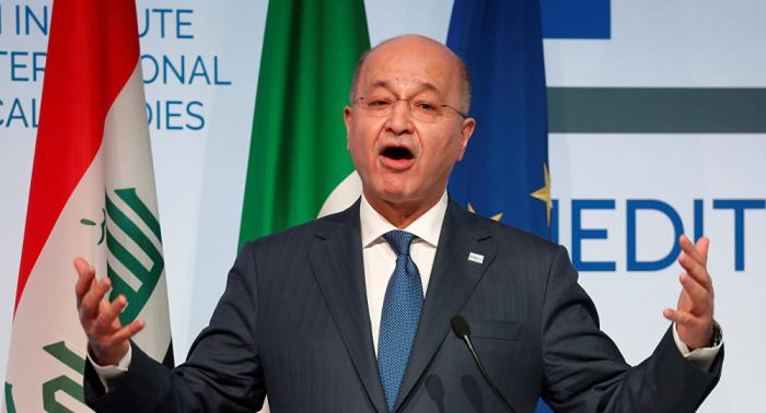 الرئيس العراقي يبحث مع أشتيه التطورات السياسية وتعزيز العلاقات الثنائية