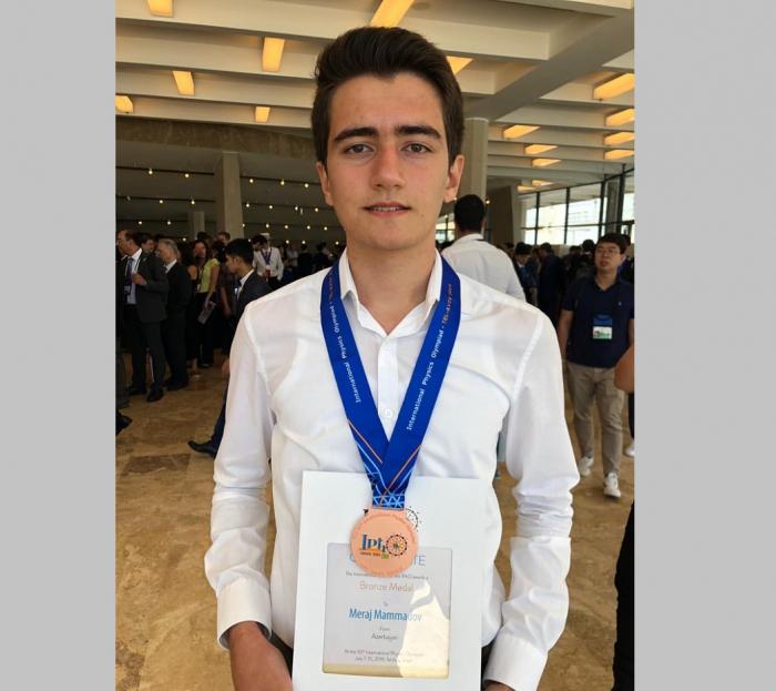 11-ci sinif şagirdi olimpiadanın bürünc medalını qazanıb