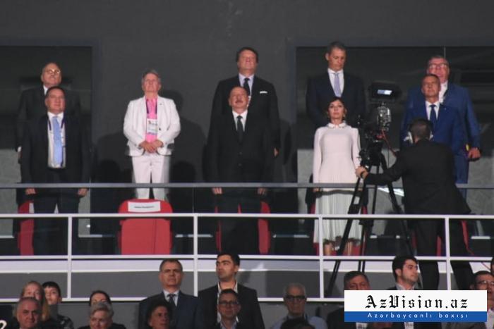 Prezident və birinci xanım Olimpiya Festivalının açılışında - Yenilənib