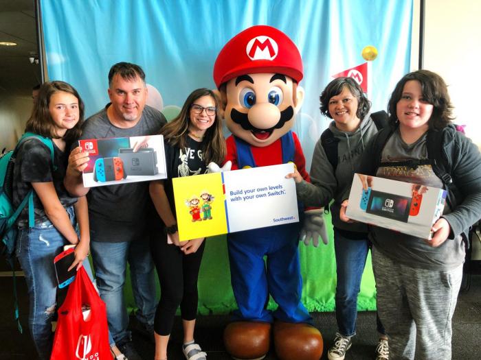 Les passagers d'un vol reçoivent une Nintendo Switch comme cadeau