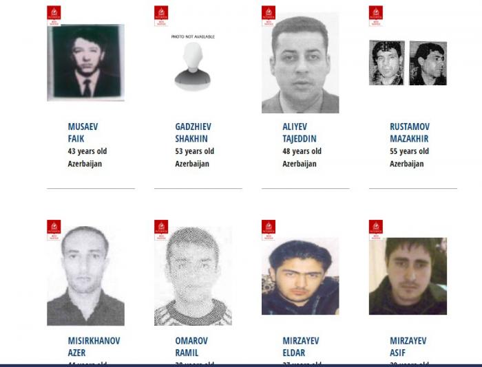 İnterpol 135 Azərbaycan vətəndaşını axtarır