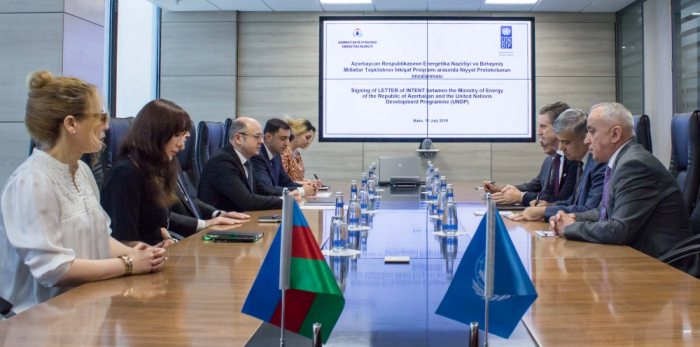 Azerbaijan`s Energy Ministry, UNDP sign protocol of intent