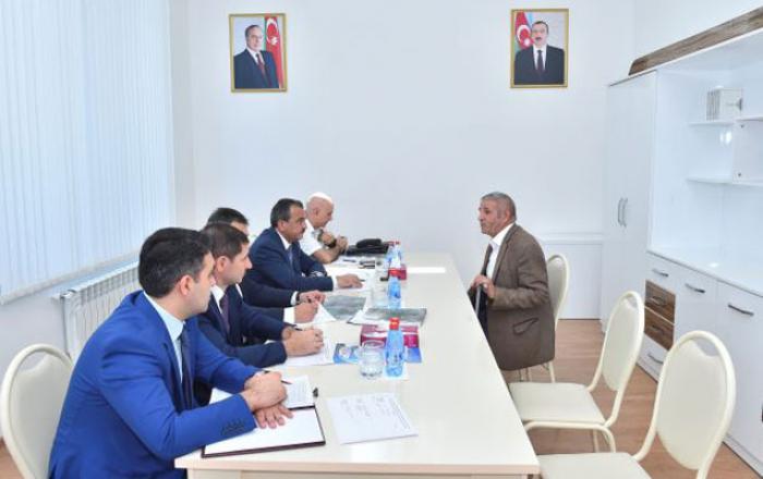 """""""Azərsu"""" sədri Şəkidə qəbul keçirib"""