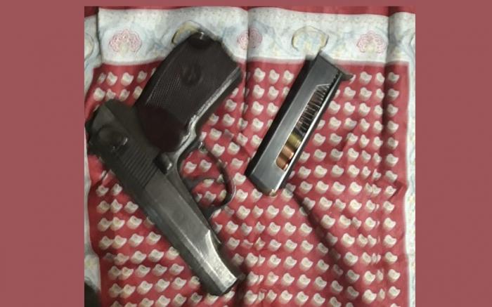 Cəlilabadda odlu silah aşkarlanıb - FOTO