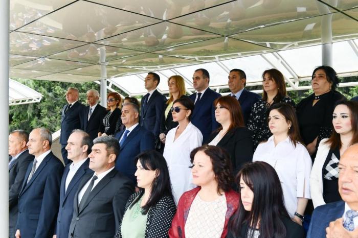 First VP Mehriban Aliyeva attends ceremony to transfer State Security Service soldiers to reserve units