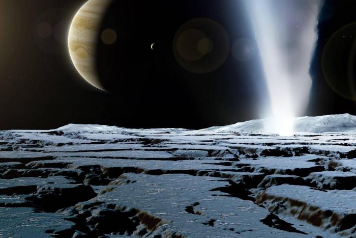Tafelsalz auf einem Jupitermond entdeckt –   gibt es dort auch Leben?