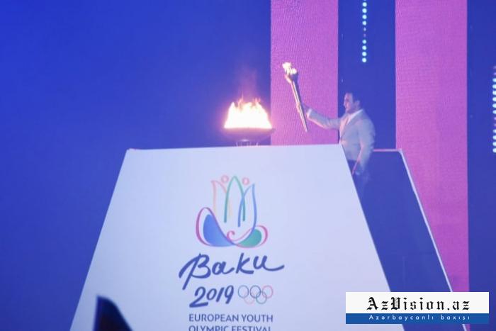 """""""Bakı-2019"""": Olimpiya Festivalının açılışından FOTOLAR"""