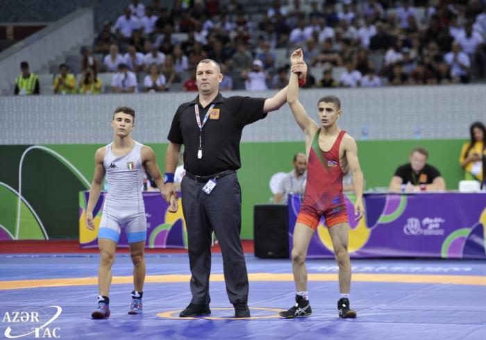Primera medalla de oro del FOJE la gana el luchador azerbaiyano Farid Sadijli