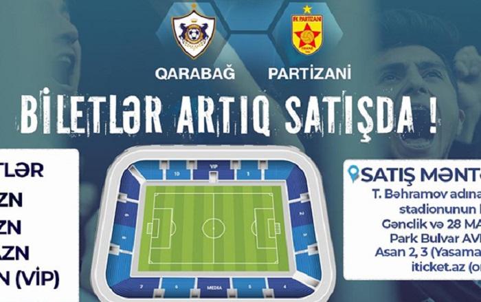 """""""Qarabağ""""ın oyununa biletlər satışda"""