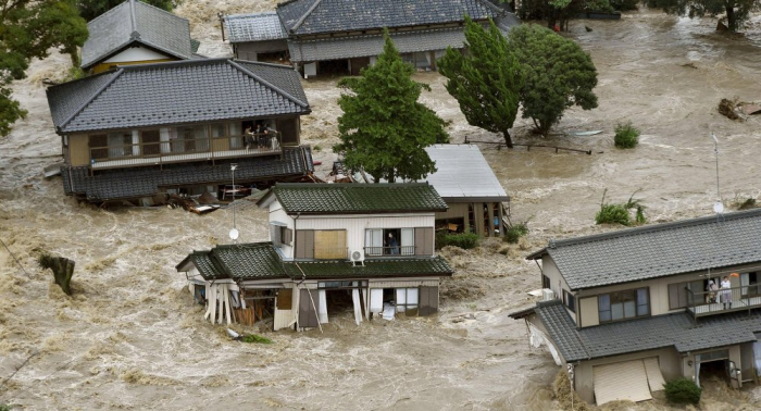 Flooding and landslide warnings in Japan force more than a million people to evacuate