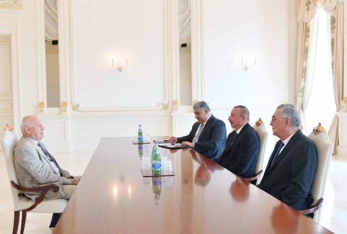Ilham Aliyev recibió al Presidente de los Comités Olímpicos Europeos