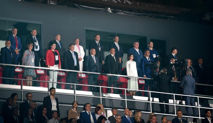 President Aliyev, First Lady Mehriban Aliyeva take part in solemn opening ceremony of 15th Summer European Youth Olympic Festival