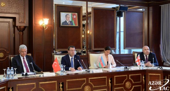 Reunión trilateral de los Comités de Asuntos Exteriores de los parlamentos de Azerbaiyán, Turquía y Georgia