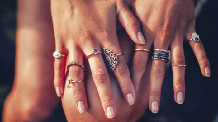 What does wearing  a ring on each finger  symbolize?