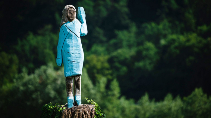 Melania Trump honored with odd statue likened to a