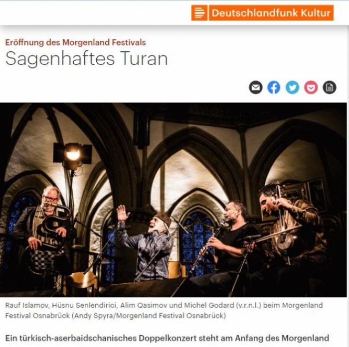 """""""Deutschlandfunk Kultur"""" escribió sobre el artista de mugham de Azerbaiyán"""