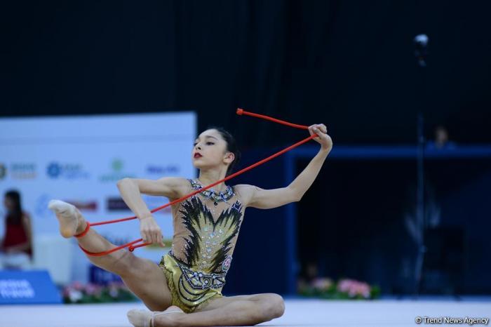 Azerbaijani gymnast wins silver and bronze at 1st FIG Rhythmic Gymnastics Junior World Championships