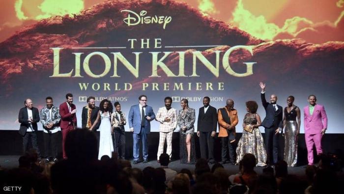 """""""الأسد الملك"""" يتصدر إيرادات السينما بأميركا الشمالية"""