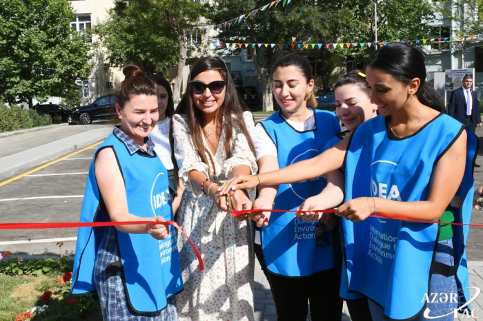 "Leyla Aliyeva attends inauguration of another yard redeveloped under ""Bizim həyət"" project"