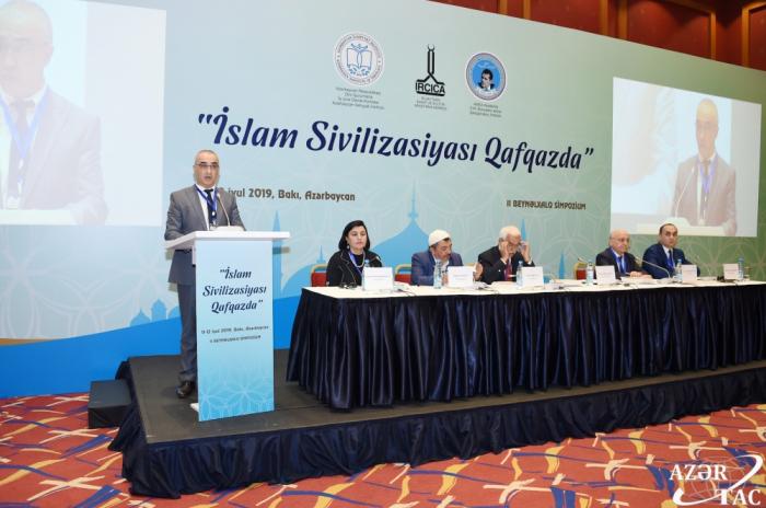 """Se inicia en Bakú el II Simposio Internacional """"Civilización islámica en el Cáucaso"""""""