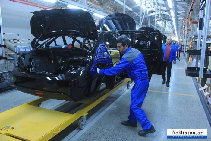 Azərbaycanda 1112 minik avtomobili istehsal olunub