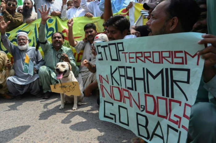 Pakistan:   manifestation nationale pour le Cachemire