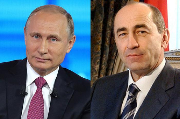 """Putindən məktub: """"Koçaryan Rusiyanın dostudur"""""""