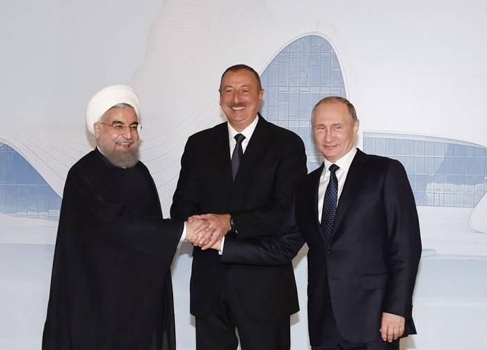 Əliyev, Putin və Ruhani Rusiyada görüşəcək