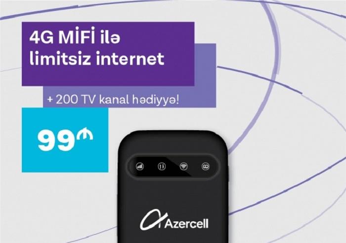"""""""Azercell""""dən yeni 4G MiFi kampaniyası"""